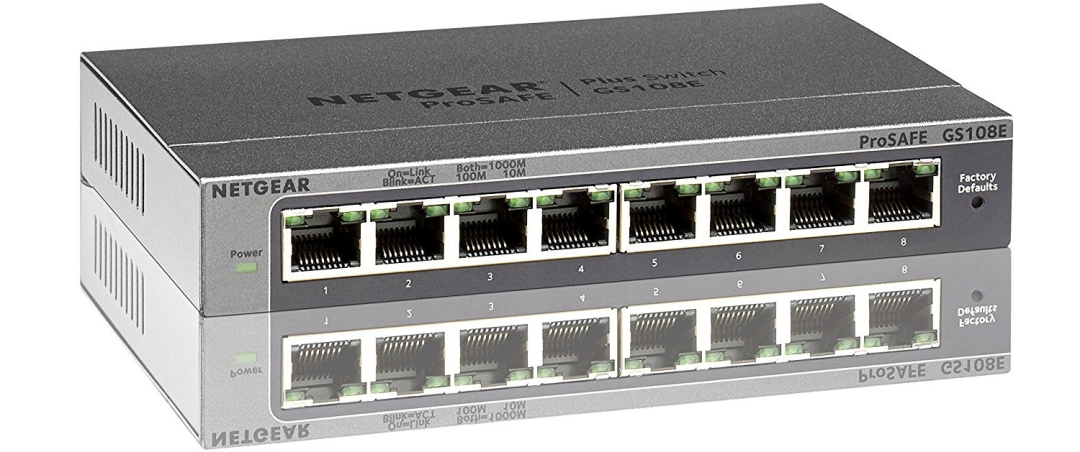 NETGEAR GS108Ev3 8-Port Gigabit Smart Managed Plus Switch